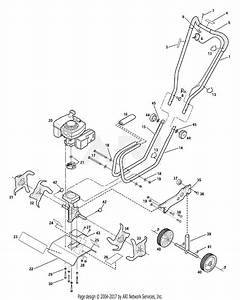 Troy Bilt 12235 Tiller    Edger Parts Diagram For General Assembly