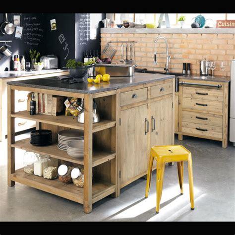 cuisine maisons du monde meubles de cuisine indépendant et ilot maison du monde