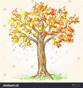Beautiful Hand Drawn Vector Illustration Autumn Stock ...
