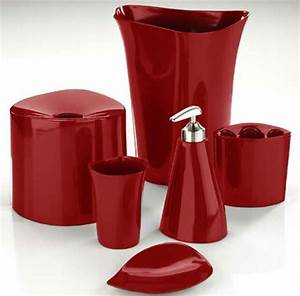 How to make red bathroom accessories make subtle yet bold for Red bathroom accessories
