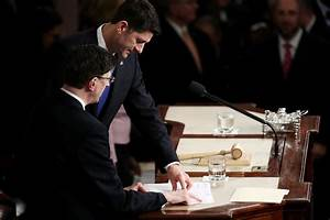 Paul Ryan in Donald Trump Delivers Address to Joint ...