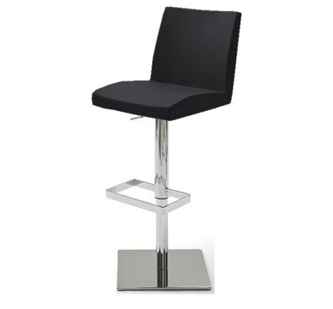 tabouret de bar pied carre tabouret de bar design noir jeff
