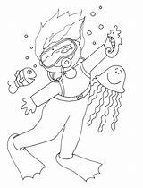 Scuba Diver Dee Coloring Stamps Drawing Colouring Freedeariedollsdigistamps Digi Dolls Dearie sketch template