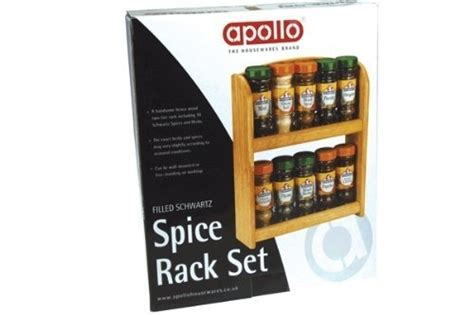 Apollo Spice Rack by Apollo Filled Schwartz Spice Rack Set Including 10 Jars
