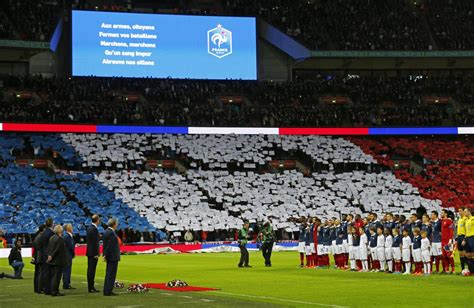 Video England France Fans Unite Sing French