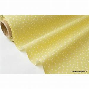 Tissu 100 Coton : tissu coton imprim petits triangles jaune citron et blanc x50 cm ~ Teatrodelosmanantiales.com Idées de Décoration