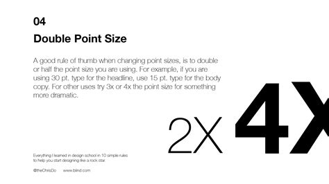 10 typography rules blind