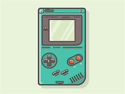 Gameboy Icon Graphics Vector Dribbble Gaming Illustration