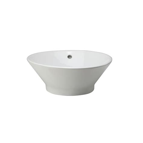 decolav sink stopper stuck decolav 1435 cwh white 16 1 2 quot above the counter bathroom