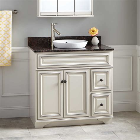 30 quot cottage retreat vanity for semi recessed sink white bathroom