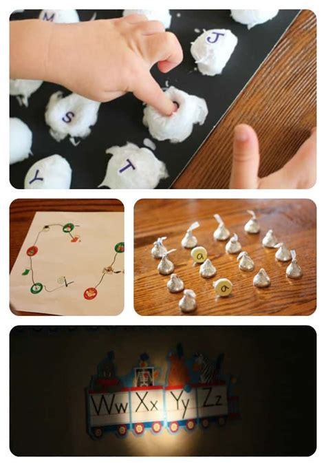alphabet activities  toddlers  preschoolers