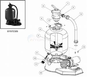 Sta-rite Crystal-flo Ii Top Mount Sand Filter System Parts