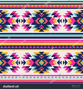 Neon Color Tribal Navajo Seamless Pattern Stock Vector ...