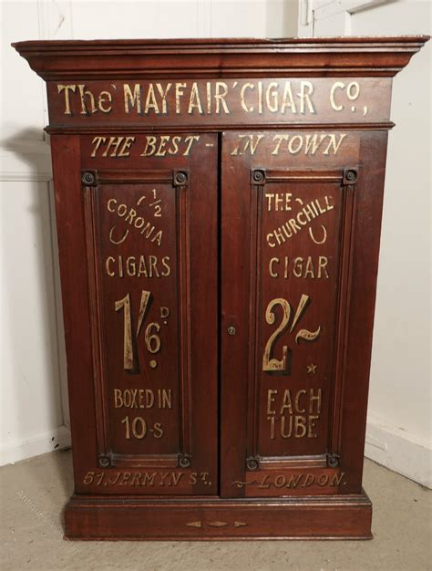 Cupboard Shop by Sign Painted Cigar Store Cupboard Shop