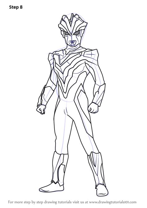 ultraman ginga victory sketch coloring page