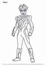 Ultraman Draw Victory Drawing Ginga Coloring Step Cartoon Mewarnai Gambar Sketch Nexus Colouring Sheet Printable Geed Tutorials Learn Sheets Kaiju sketch template