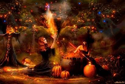 Samhain Fire Leaf Wicca
