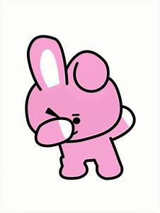 """Cooky Dabbing - BTS/BT21"" Art Prints by Kpopgroups"