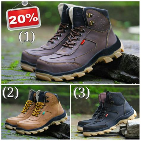 jual sepatu boots pria sepatu kickers safety leather suede mercy di lapak andre shop bandung