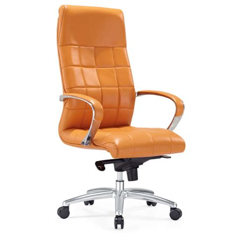 orange executive office chair modern ergonomic grant leather executive chair with