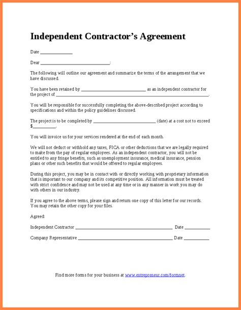 Independent Contractor Agreement Template 9 Independent Sales Contractor Agreement Template