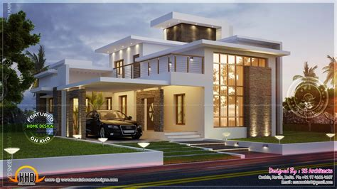 contempory house plans awesome 3000 sq contemporary house kerala home design and floor plans
