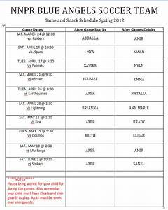 93+ Soccer Game Schedule Template - Softball Lineup ...