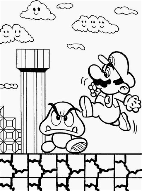 Mario is one of the famous characters in the game. Online Coloring Super Mario Bros Coloring Pages For Kids | New Coloring Pages
