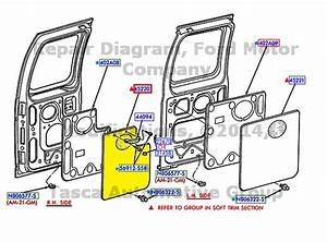 New Oem Rh Rear Door Inner Trim Panel Med Flint E150 250 350 Econoline E450 E550