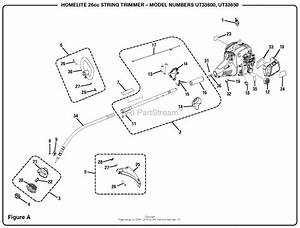 Homelite Ut33600 26cc String Trimmer Parts Diagram For