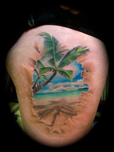 awesome beach scenery tattoos