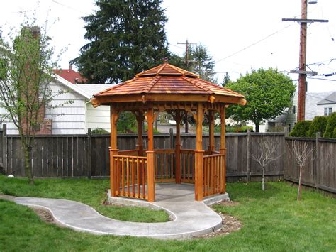 Small Gazebo by Front Landscape Design With A Small Gazebo Dapoffice