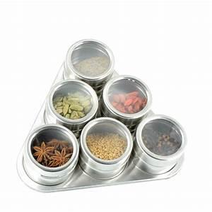 Support à épices : 6 pots pices aimant s accessoires pices epices du monde ~ Teatrodelosmanantiales.com Idées de Décoration