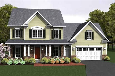 colonial style house plan  beds  baths  sqft plan   builderhouseplanscom