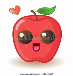 Red Apple Smiley Character Stock Vector 158193485 ...