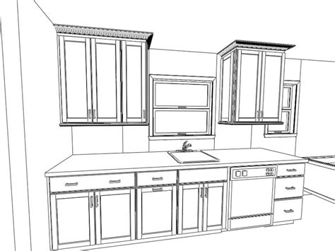 coloring pages kitchen cabinets sketch coloring page