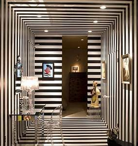 Interior Idea #17 - Striped interior: red, black and white