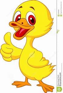 Baby Boy Card Design Cute Baby Duck Cartoon Thumb Up Royalty Free Stock Photos