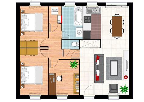 plan maison 2 chambres construction maison neuve ambre lamotte maisons