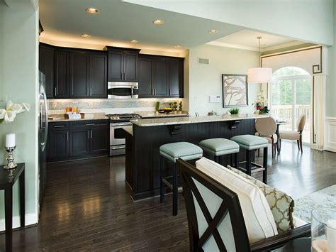 paint colors to match espresso cabinets kitchen breakfast room of dayton model offered by david