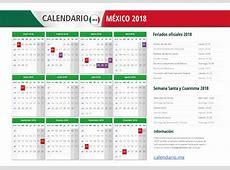 Calendario 2018 con Feriados de México Calendario 2018