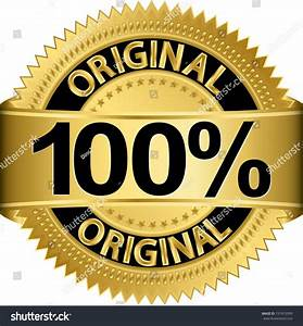 Golden 100 Percent Original Label Vector Stock Vector ...