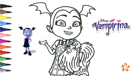 vampirina disney   color vampirina  wolfie