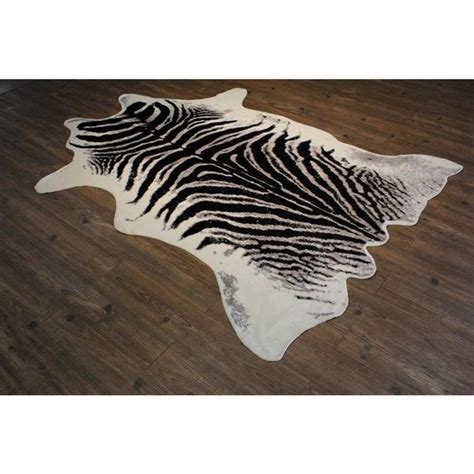 Faux Cowhide Rug Black And White - shop faux cow hide black silver and white area rug