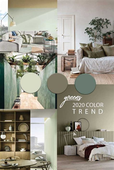 Green wall paint COLOR TREND 2020 in 2020 Green painted