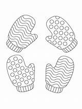 Mittens Coloring Pages Printable Bright Choose Colors Favorite sketch template