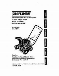Craftsman 536 8852 Snow Blower User Manual