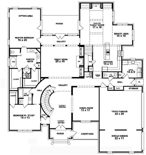 5 bedroom house plans 2 4 bedroom 2 house plans on two 5 bedroom
