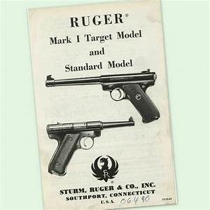 Ruger Mark I Instructions Parts Owners Gun Manual 1 One
