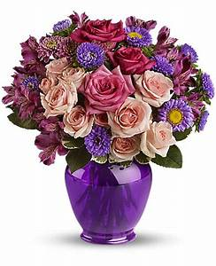 Purple Medley Bouquet with Roses | Forest Lawn